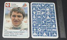 CARTE COUREUR AUTOMOBILE 1984 FORMULE 1 GRAND PRIX F1 EDDIE CHEEVER ALFA-ROMEO