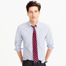 J. Crew Men's Slim Fit American Pima Cotton Oxford Shirt in Blue Stripe NEW XL