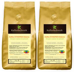 Kaffee Äthiopien Sidamo aus Bio Anbau 2x500g ♥ Frische Bohnen vom Kaffeefachwerk