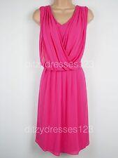 BNWT So Fabulous Drape Front Wrap Effect Dress Size 20 Stretch RRP £57
