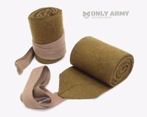 1940's WW2 British Army Style Puttees Extra Long Wool Wraps Gaiters Military