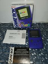 Original CIB NINTENDO GAMEBOY COLOR - PURPLE GRAPE with Box and Inserts - WORKS