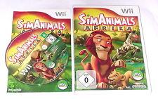 """NINTENDO WII SPIEL"""" SIM ANIMALS AFRIKA Simanimals Sims """" KOMPLETT"""