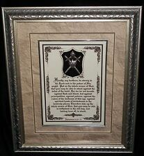 """NEW """"PUT ON THE WHOLE ARMOR OF GOD""""Framed Bible Verse Plaque,Christian Gift $220"""
