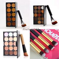 Professional Multi Colors Makeup Concealer Eye Shadow Palette & 163 Flat Brus BE