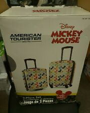 """Disney Mickey Mouse American Tourister 2-Piece 20"""" Spinner And 18"""" Underseater"""