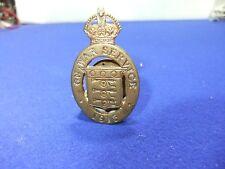 vtg badge on war service munitions 38346 S prefix 1915 ww1 home front war effort