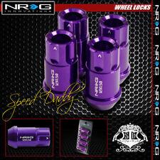 "4 X NRG ANODIZED M12X1.5 1.75"" LUG NUT LOCKS FOR IS F/250 GS350/430/450 PURPLE"