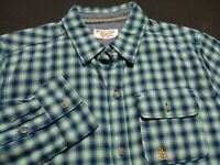Penguin by Munsingwear Mens XS Extra Small L/S Button-Front Plaid Check Shirt