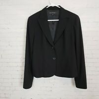 Lafayette 148 New York Womens Black Blazer Size 8 Wool Blend