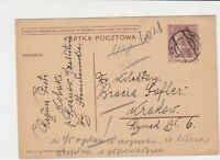 poland 1939 stamps card ref 20878