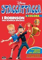 Staccattacca e colora i Robinson con adesivi - Disney - Libro Nuovo in offerta!