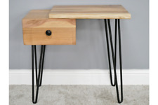 Vintage Industrial Living Edge Bedside Cabinet Table Drawers Statement Piece