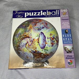 Josephine Wall Puzzleball 3D Sphere Blue Opal 540 Pieces 23cm 'Fantasia'