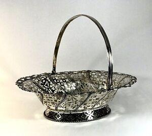 Large Impressive Solid Silver Sterling Georgian Cake Basket 1767 London 565g