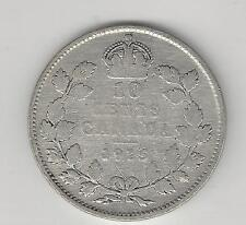 CANADA,  1915, 10 CENTS,  SILVER,  KM#23,  FINE, Cleaned