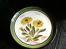assiette à fleurs jaunes