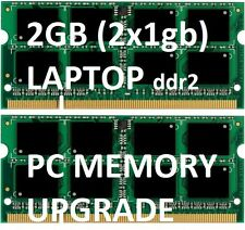 2GB = 2 x 1gb LAPTOP Memory DDR2 ram NOTEBOOK ACER Aspire One 1 ZG5  A110  A150
