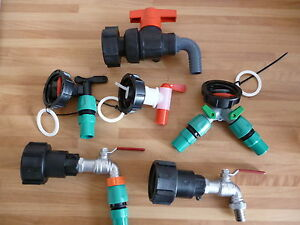 IBC Adaptor Tap Fitting to plastic or metal Tap with hoselock IBC Water Oil Tank
