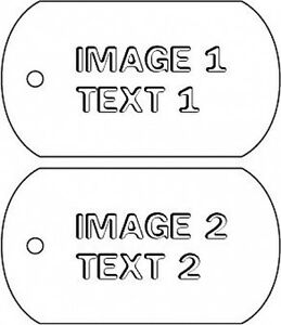 Custom Picture & Text Dog Tag Car Air Freshener