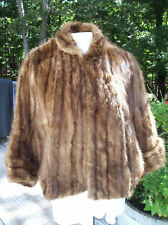Muskrat Fur Cape Stole vintage Movie Star small medium
