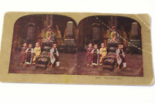 Stereoview Card Japan 4 Little Japanese Boys Traditional Costume Kimono Vintage