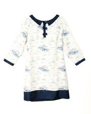 Cute Scottish Style Selkie Mini Bow Sea Vessel & Lighthouse Print Dress BD-0004