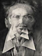 1916/66 Vintage 11x14 SURREAL EZRA POUND Poetry ~ ALVIN LANGDON COBURN Stieglitz