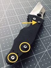 Spyderco Yojimbo 2 Custom Titanium Military Scale Screws