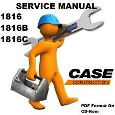 CASE 1816 1816B 1816C Uni Loader Service Repair Manual 8-41040 / PDF On CD
