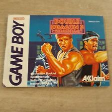 Manuel Notice de jeu Nintendo game boy FR originale double dragon 3