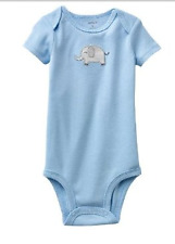 Carter's Bodysuit, Gray Elephant Applique (Light Blue), Size: 6 months