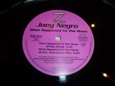 "JOEY NEGRO - What Happened To The Music - 1993 UK 4-track 12"" vinyl Single"