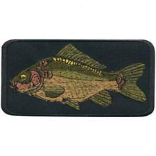 2 x 5 cm ca Gr 02100 Aufnäher Fisch Patches Stick Applikation