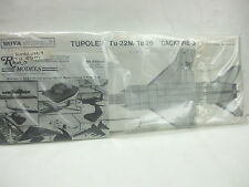 Tupolev Tu-22M/Tu-26 Backfire B 1/72 Vacuformed Kit - Nova Models -VERY RARE MIB