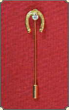 Lucky Diamond Horse Shoe Stick Pin