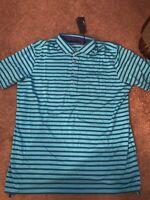 NWT Greyson Wichita Golf Polo Stripe Shirt Barracuda Carmen Mens Size XL