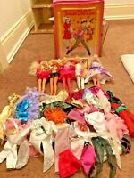 Barbie Rockers Lot Dolls Case Clothes