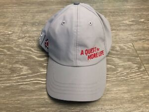 Orange Theory Gray ALS A Quest For More Life Cap Hat Gently Used