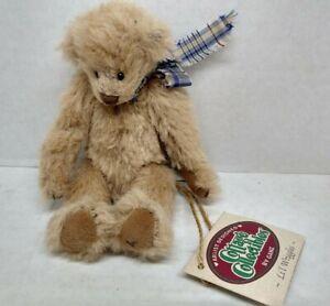 "Cottage Collectible Li'l Wriggles Plush Bear 1996 Ganz 6.5"" Mint Condition"