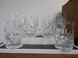 """Waterford Lismore Double Old Fashioned Glasses 12 Oz 4 3/8"""" Tall Set of Six (6)"""