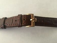 18mm Brown Leather Band with Rose Gold Buckle For Omega Watch