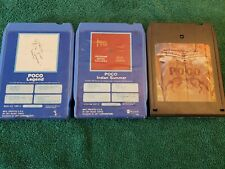 Poco- Lot of three 8-Track Tape Cartridges- Tested, Works