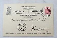 Postcard Postkarte Brefkort Suomi Finland Finnland Postkupen Kuopio 1893