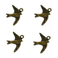 20 BRONZO ANTICO bird COLOMBA Charms metallo ciondoli 22mm
