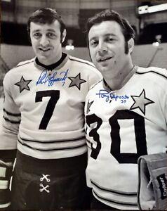 PHIL ESPOSITO & TONY ESPOSITO DUAL AUTOGRAPED ALL-STAR 16x20 PHOTO