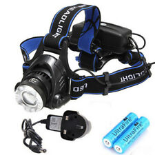 Cree XML T6 LED Head Torch zoomable Headlight Headlight Headlamp Rechargeable