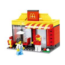 Building Bricks Compatible Modular Burger Place Includes 2 Minifigures City UK