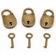 9PCS Old Vintage Antique Style Mini Archaize Padlocks Key Lock W/ key (Lot Of 3)