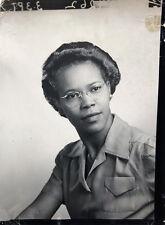 1940s Emma Farrar Pretty Negro Lady Professional  Original Photo